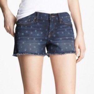 Lucky Brand Cutoff Riley Denim Shorts Stars 27